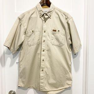 Carhartt Beige Short Sleeve Button Down Shirt